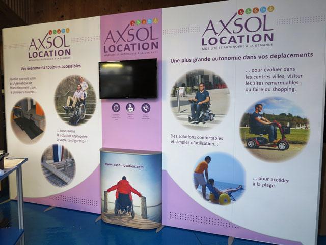 Stand Axsol-location salon autonomic