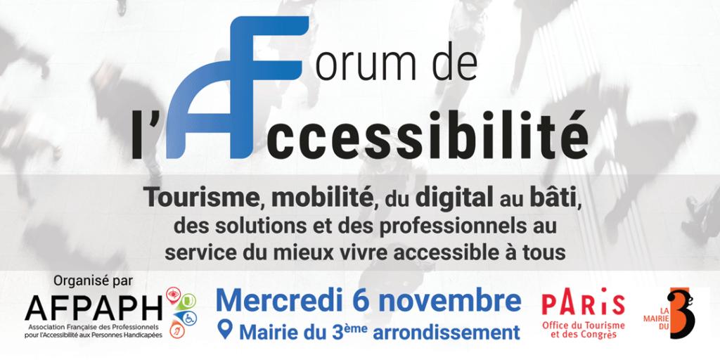 Rendez-vous au forum de l'accessibilité 2019 !