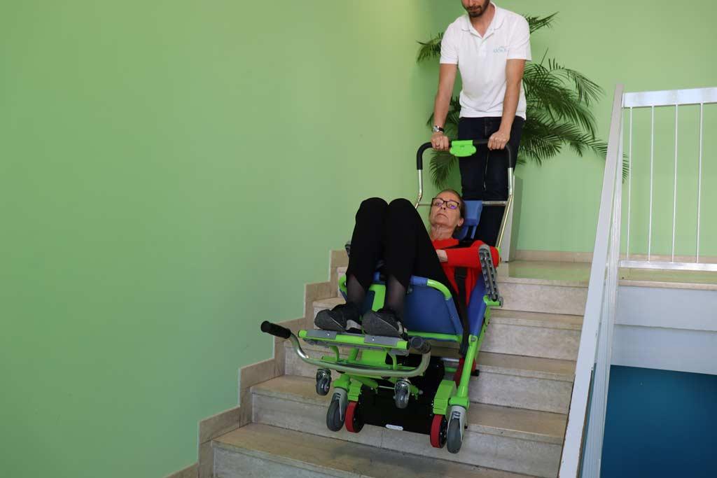Descente d'escalier avec une chaise d'évacuation Excel-E