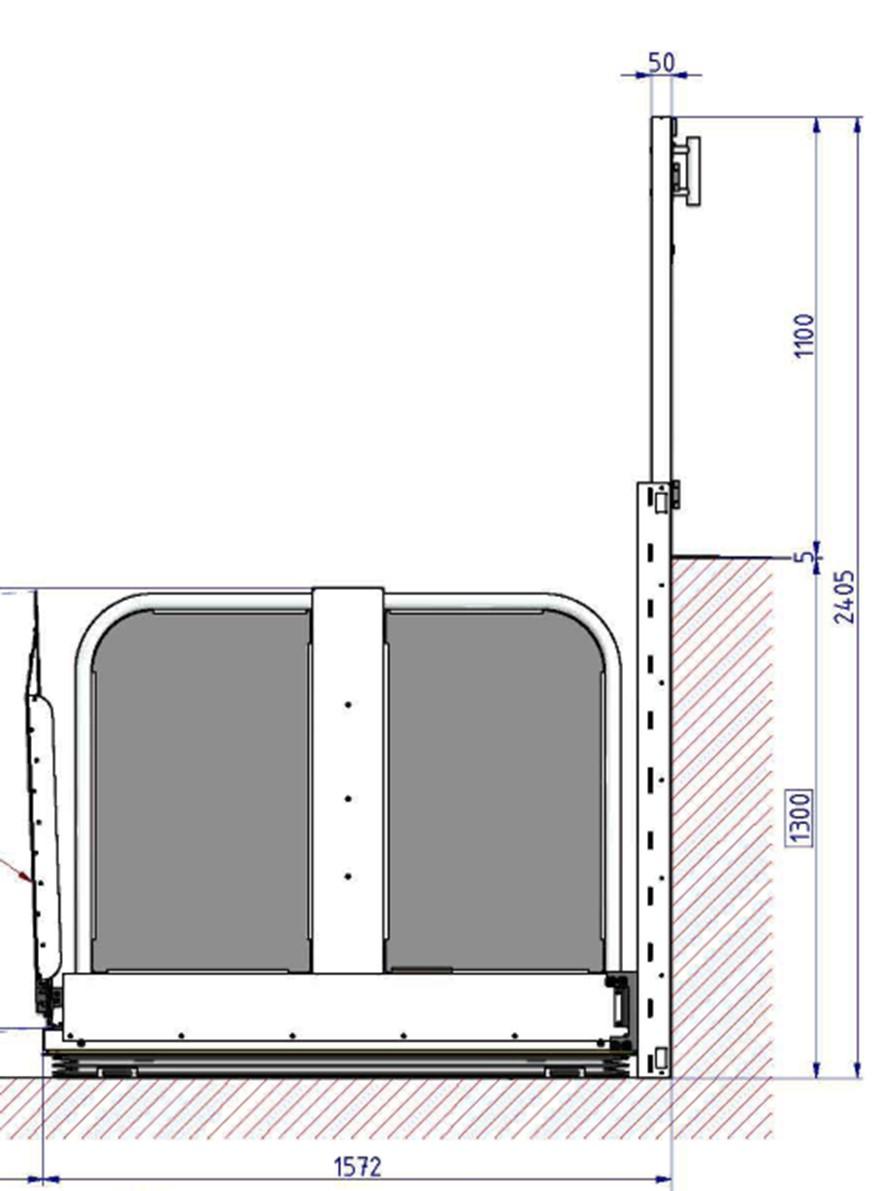 Informations technique plateforme HERMES XL pour fauteuil roulant accès pmr ERP