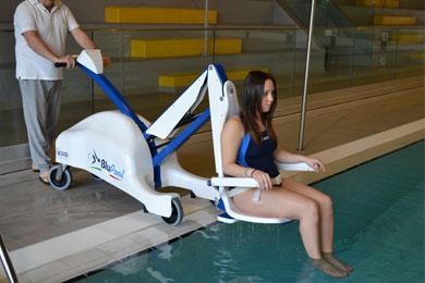 Elévateurs de piscine mobiles sur batteries Élévateur BluPool