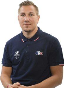 Remy Boulle athlète paralympique de l'équipe de france de kayak