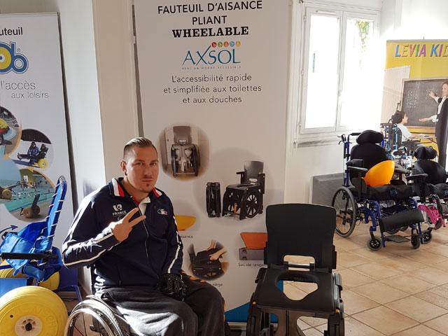 Rémy Boullé ambassadeur du fauteuil d'aisance Wheelable