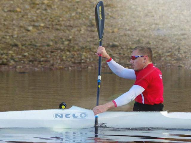 Kayakiste de l'équipe de france paralympique Rémy Boulle