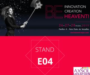 Axsol sera présent au salon Heavent Paris du 26 au 28 novembre 2019