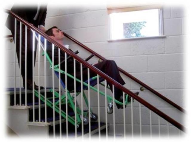 Chaise d'évacuation par escaliers Exel