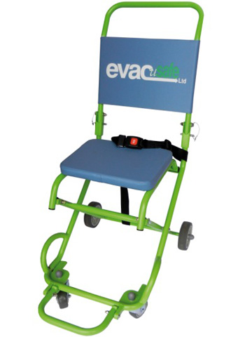 Chaise portoir evacusafe 4 roues