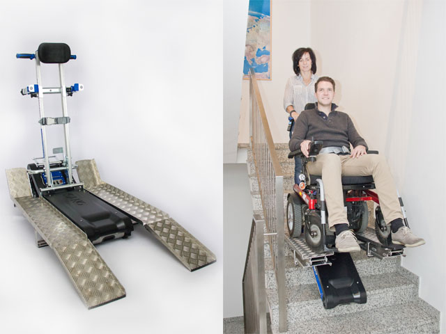 chenillettes-Monte escaliers liftkar PTR version long pour handicapés et pmr