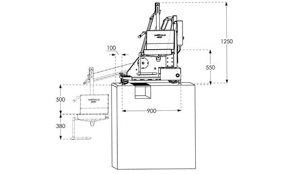 dimension élévateur M400