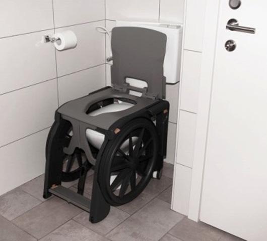 Fauteuil de toilette Wheelable pour pmr et handicapés