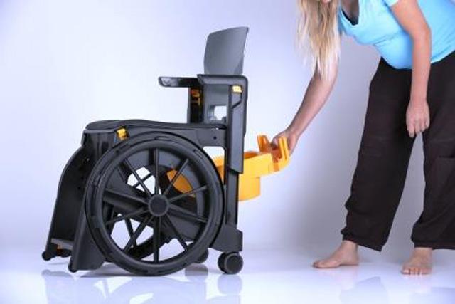 Bac de récupération pour fauteuil d'aisance wheelable