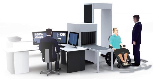 le fauteuil amagnétique easyroller permet le passage de portiques d'aéroport