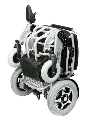 Fauteuil roulant électrique sorolla 315 plié