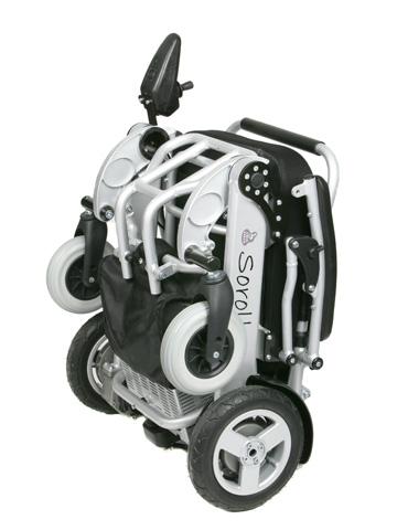 Fauteuil roulant électrique sorolla standard plié