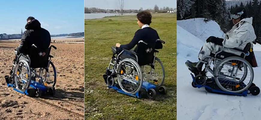 Freedom Trax : le tout-terrain en fauteuil roulant