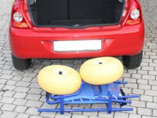 Transport du fauteuil d'accès au bain JOB classic