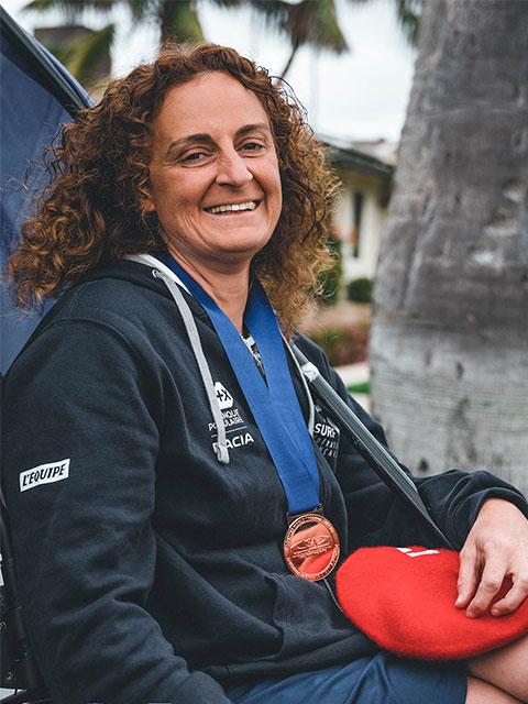 Katell Ropert championne de parasurf