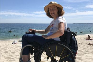 Katell Ropert ambassadrice Freedom Trax plage