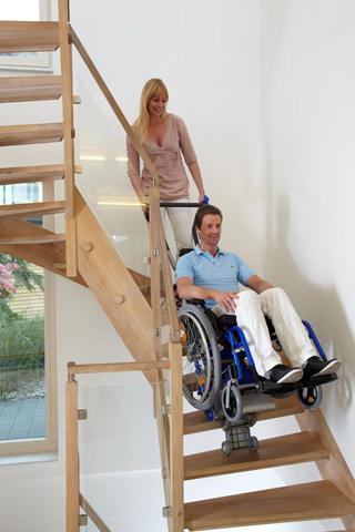 Monte escaliers handicapés et pmr liftkar pt plus 125
