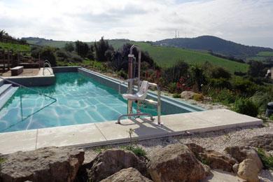 Élévateurs de piscine hydrauliques fixe NÉRÉE