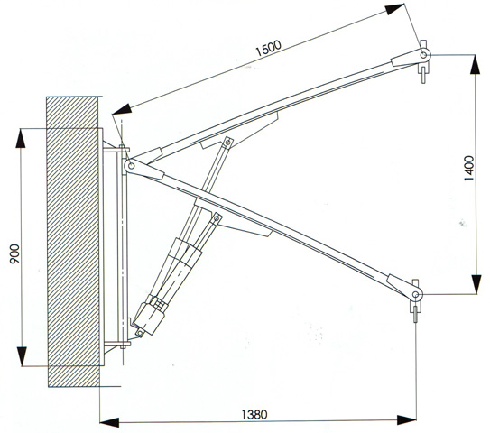 Dimensions élévateur mural de piscine f130