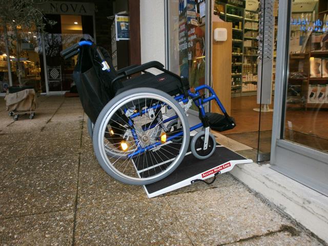 Rampe d'accès handicapé amovible en fibre de verre
