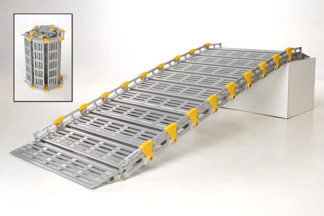 Rampe d'accès modulaire en aluminium
